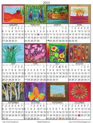Frieda Anderson's 2013 Calendar