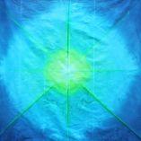 Blue and Green Sunburst