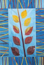 Blue Falling Leaves