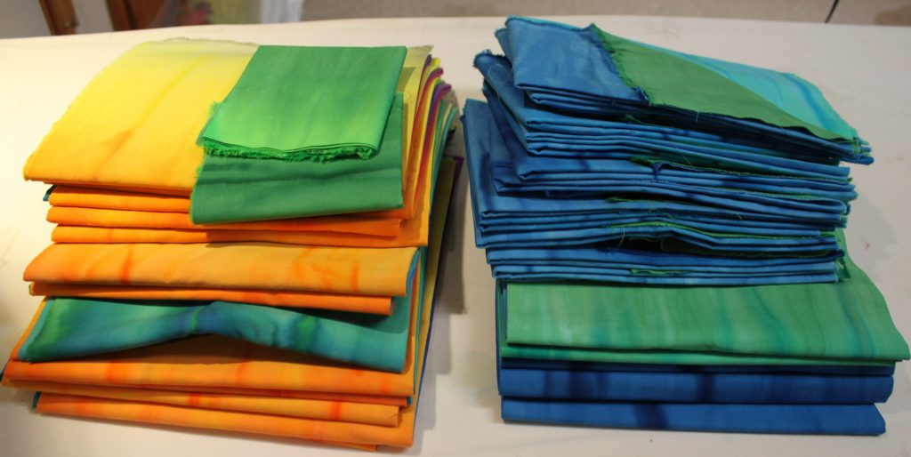 Ironed fabric ready for kits